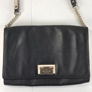 Kate spade black& white leather crossbody bag